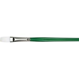 6: Better, Long Handle, Synthetic Bristle, Flat, Acrylic, Oil, (model 6100F-6), price per each