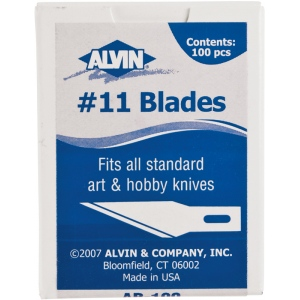 Alvin® No. 11 Art Blades: Refill, Knife, (model AB-100), price per pack