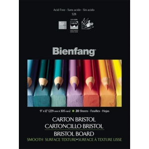 "Bienfang® 14 x 17 Smooth Finish White Drawing Bristol Board Pads: Smooth, Pad, 20 Sheets, 14"" x 17"", 146 lb, (model 528P-140), price per 20 Sheets pad"