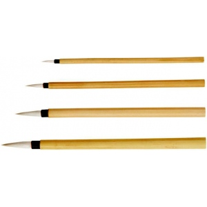 Princeton™ Bamboo Brush Round 2: Natural, Round, Calligraphy, Watercolor