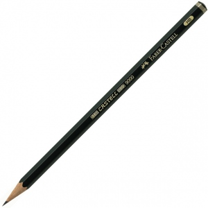 Faber-Castell Castell 9000 Graphite Pencil: 6B