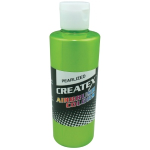 Createx™ Airbrush Paint 4oz Pearlescent Lime: Green, Bottle, 4 oz, Airbrush