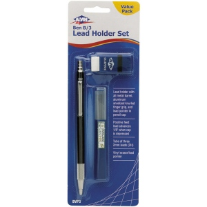 Alvin® Ben B/3 Lead Holder Set: Black/Gray, 2mm, Lead Holder, (model BVP3), price per pack