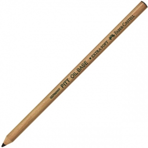 Faber-Castell PITT Oil Base Pencil: Black, Medium