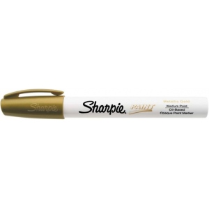 Sharpie® Oil Paint Marker Medium Gold: Metallic, Paint, Medium Nib, (model SN35559), price per each