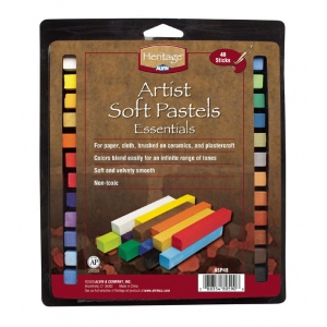 Heritage Arts™ Artist Grade Soft Essential 48-Color Pastel Set: Multi, Stick, Soft, (model ASP48), price per set