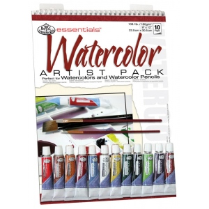 "Royal & Langnickel® Essentials™ Watercolor Paint Artist Pack: Wire Bound, Multi, Pad, 10 Sheets, 9"" x 12"", Watercolor, (model RD502), price per 10 Sheets"