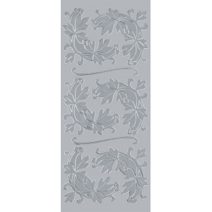 "Blue Hills Studio™ DesignLines™ Outline Stickers Silver #6: Metallic, 4"" x 9"", Outline"