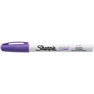 Sharpie® Oil Paint Marker Fine Purple: Purple, Paint, Fine Nib
