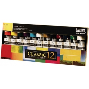 Liquitex® Professional Series Heavy Body 12-Color Classic Set: Multi, Tube, 59 ml, Acrylic, (model 101038), price per set