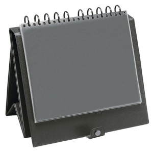 "Prestige™ Easel Binder 14"" x 11"": Black/Gray, Vinyl, (model EB1402), price per each"