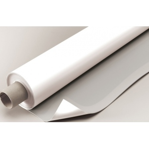 "Alvin® VYCO Gray/White Board Cover 48"" x 10yd: Black/Gray, White/Ivory, Roll, Vinyl, 48"" x 10 yd, (model VBC77/48), price per roll"
