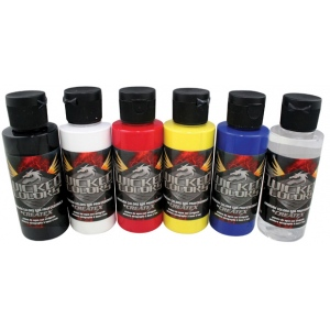 Wicked Colors™ Airbrush Paint Primary 6-Color Set: Multi, Bottle, 2 oz, Airbrush, (model W101-00), price per set