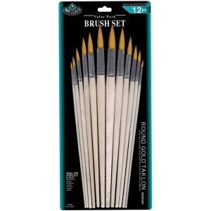 Royal & Langnickel® Gold Taklon Brush Sets