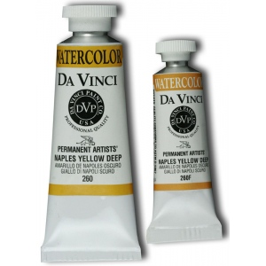 Da Vinci Artists' Watercolor Paint 15ml Naples Yellow Deep: Yellow, Tube, 15 ml, Watercolor