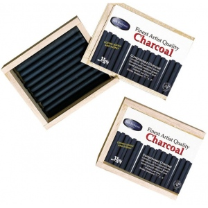 Yarka® Compressed Charcoal Set: Black/Gray, Stick, Compressed, (model YK19102), price per box