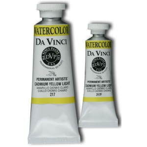 Da Vinci Artists' Watercolor Paint 15ml Cadmium Yellow Light: Yellow, Tube, 15 ml, Watercolor, (model DAV217F), price per tube