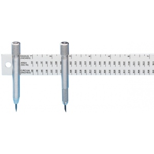 "Alumicolor® 18"" Beam Compass Rule: 36"", 18"", Compass/Divider, (model 4110-1), price per each"