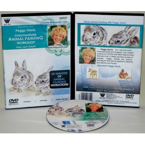 Peggy Harris's Animal Oil Painting Workshop, Intermediate Baby Jack Rabbits, DVD: (1 Hour)