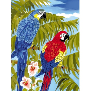 "Royal & Langnickel® Painting by Numbers™ 8 3/4 x 11 3/8 Junior Small Set Parrots: 8 3/4"" x 11 3/8"", (model PJS35), price per set"