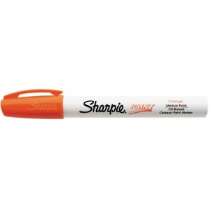 Sharpie® Oil Paint Marker Medium Orange: Orange, Paint, Medium Nib, (model SN35557), price per each