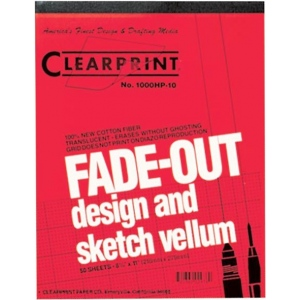 "Clearprint® 1000HP Series 12 x 18 Unprinted Vellum Design and Sketch 50-Sheet Pad: Pad, Unprinted, 50 Sheets, 12"" x 18"", 16 lb"