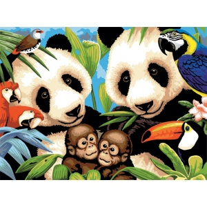"Royal & Langnickel® Painting by Numbers™ 11 1/4 x 15 3/8 Junior Large Set Endangered Animals: 11 1/4"" x 15 3/8"", (model PJL8), price per set"