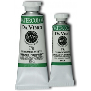 Da Vinci Artists' Watercolor Paint 15ml Emerald: Green, Tube, 15 ml, Watercolor, (model DAV238-2F), price per tube