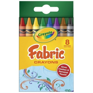 Crayola® Fabric Crayon 8-Color Set: Fabric, (model 52-5009), price per pack