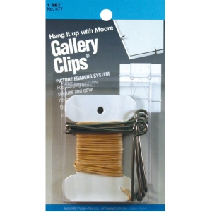 Moore Gallery Clips® Framing System: Metallic, (model M477), price per set