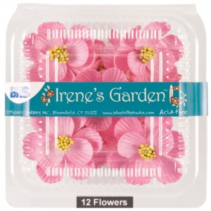 "Blue Hills Studio™ Irene's Garden™ Box O'Magnolias Pink: Red/Pink, Paper, 1 1/4"" - 1 1/2"", Dimensional, (model BHS107531), price per box"