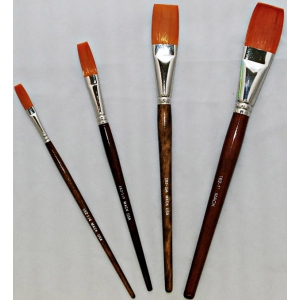 Mack Golden Taklon One Stroke Lettering Brush Series 162: #1, Length 1-1/2""