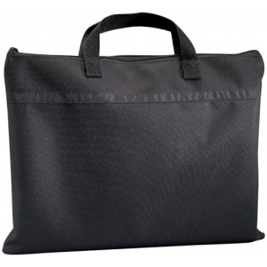 "Prestige™ Student™ Series Black Soft-Sided Portfolio 12"" x 15"": Black/Gray, 1/2"", Nylon, 12"" x 15"", (model N1215), price per each"