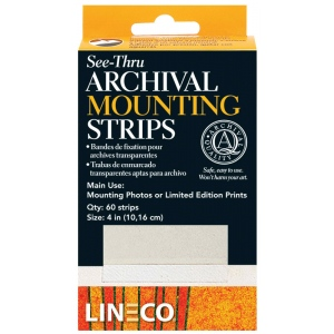 Lineco® Archival Mylar See-through Mounting Strips: Clear, Strip, (model L5334015), price per each