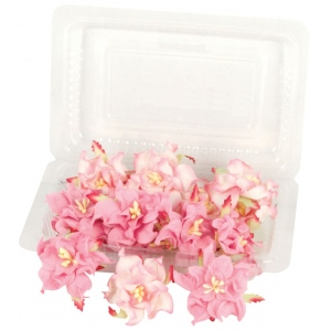 "Blue Hills Studio™ Irene's Garden™ Box O'Gardenias Dimensional Paper Flowers Strawberry: Red/Pink, Paper, 2"", 3"", Dimensional, (model BHS107522), price per box"