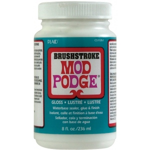 Mod Podge® Brushstroke Texture 8 oz. Gloss: Gloss, Bottle, 8 oz, (model PLCS11261), price per each
