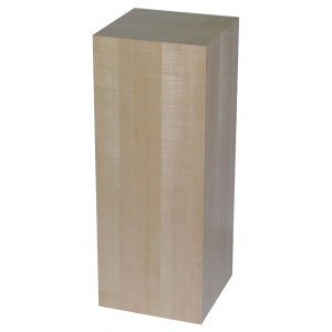 "Xylem Maple Wood Veneer Pedestal: 18"" X 18"" Size, 12"" Height"