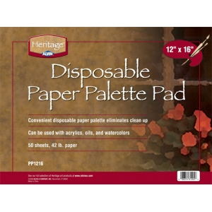 "Heritage Arts™ Disposable Paper Palette Pad 12"" x 16"": Pad, 50 Sheets, 12"" x 16"", 42 lb"