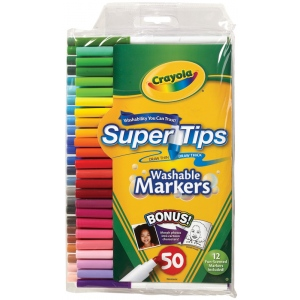 Crayola® Super Tips Washable Marker 50-Color Set: Multi, Washable, (model 58-5050), price per set