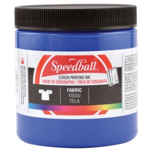 Speedball® 8 oz. Fabric Screen Printing Ink Blue: Blue, Jar, Fabric, 8 oz, Screen Printing, (model 4562), price per each