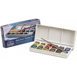 Winsor & Newton Watercolor Paint Sketchers' Pocket Box Set