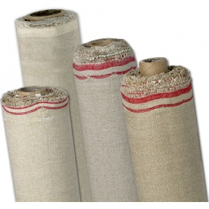"Fredrix® PRO Series 54"" x 6yd Linen Oil Primed Canvas Roll 125 Kent: White/Ivory, Roll, Linen, 54"" x 6 yd, Oil, Primed"