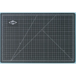 "Alvin® GBM Series 18"" x 36"" Green/Black Professional Self-Healing Cutting Mat: Black/Gray, Green, Grid, Vinyl, 18"" x 36"", 3mm, Cutting Mat"