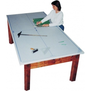 Speedpress Super Size Protective Cutting Mat with Imprinted Grid Undermat : 4' x 8', 33lbs