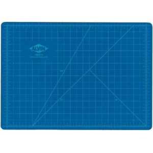 "Alvin® HM Series Blue/Gray Self-Healing Hobby Mat 24 x 36: Black/Gray, Blue, Grid, Vinyl, 24"" x 36"", 2mm, Cutting Mat, (model HM2436), price per each"