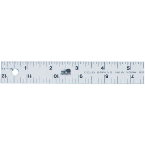 "Fairgate® 12"" Aluminum Straightedge Ruler: Metallic, Aluminum, 12"", General Purpose"