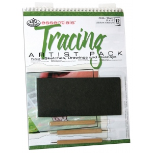 "Royal & Langnickel® Essentials™ Tracing Artist Pack: Wire Bound, Multi, Pad, 12 Sheets, 9"" x 12"", (model RD501), price per 12 Sheets"