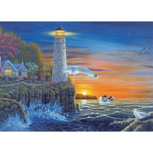 "Royal & Langnickel® Painting by Numbers™ 12 3/4 x 15 3/4 Adult Set Waterside Lighthouse: 12 3/4"" x 15 3/4"", (model PAL18), price per set"