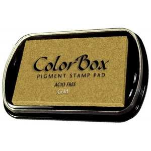 ColorBox® Full Size Ink Pad Gold: Metallic, Pad, Pigment, Full Size Rectangle, (model CS19091), price per each
