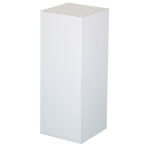 "Xylem White Laminate Pedestal: 18"" x 18"" Base, 36"" Height"
